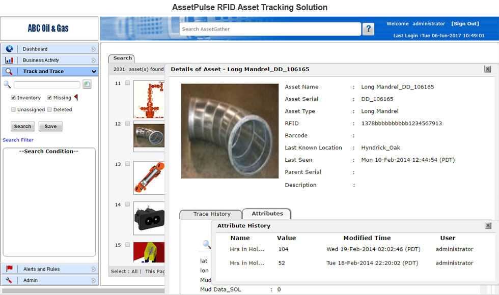 RFID Oil & Gas Equipment Management & Monitoring